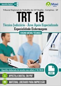 Técnico Judiciário - Especialidade Enfermagem - TRT 15ª Região