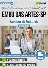 Auxiliar de Gabinete - Câmara de Embu das Artes - SP