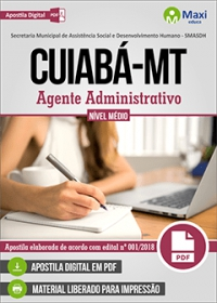 Agente Administrativo - SMASDH - Prefeitura de Cuiabá - MT