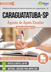 Agente de Apoio Escolar - Prefeitura de Caraguatatuba - SP