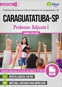 Professor Adjunto I - Prefeitura de Caraguatatuba - SP