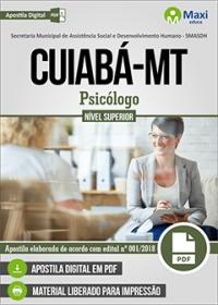 Psicólogo - SMASDH - Prefeitura de Cuiabá - MT