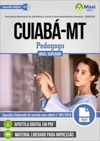 Pedagogo - SMASDH - Prefeitura de Cuiabá - MT