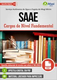 Vários cargos de nível fundamental - SAAE - Mogi Mirim - SP