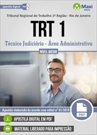 Técnico Judiciário - Área Administrativa - TRT 1ª Região