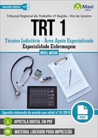 Técnico Judiciário - Especialidade Enfermagem - TRT 1ª Região