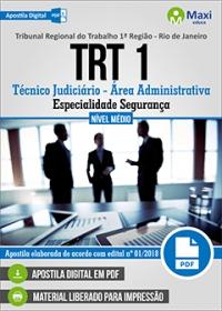 Técnico Judiciário - Especialidade Segurança - TRT 1ª Região