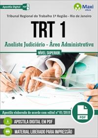 Analista Judiciário - Área Administrativa - TRT 1ª Região