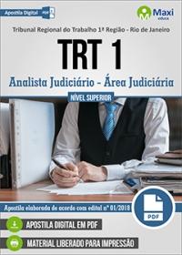 Analista Judiciário - Área Judiciária - TRT 1ª Região