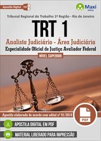 Analista Judiciário - Oficial de Justiça Avaliador - TRT 1ª Região