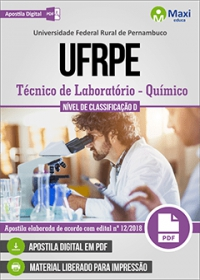 Técnico de Laboratório - Área Químico - UFRPE