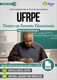 Técnico em Assuntos Educacionais - UFRPE