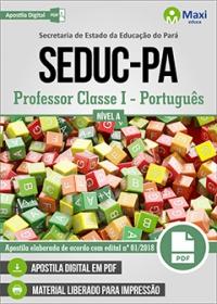 Professor Classe I - Português - Nível A - SEDUC-PA