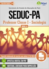 Professor Classe I - Sociologia - Nível A - SEDUC-PA