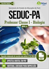 Professor Classe I - Biologia - Nível A - SEDUC-PA