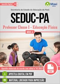 Professor Classe I - Educação Física - Nível A - SEDUC-PA