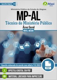 Técnico do Ministério Público - Área Geral - Ministério Público - AL