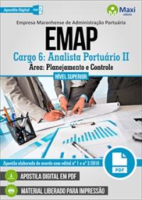 Cargo 6 - Analista Portuário II - Área Planejamento e Controle - EMAP