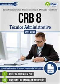 Técnico Administrativo - CRB 8ª Região - SP