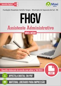 Assistente Administrativo - FHGV - Sapucaia do Sul - RS
