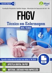 Técnico em Enfermagem - FHGV - Sapucaia do Sul - RS