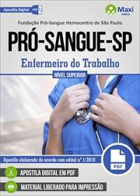Enfermeiro do Trabalho - Fundação Pró-Sangue-SP