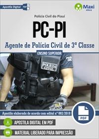 Agente de Polícia Civil de 3ª Classe - Polícia Civil - PI