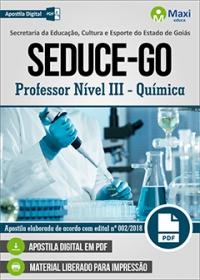 Professor Nível III - Química - SEDUCE-GO
