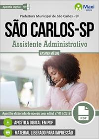 Assistente Administrativo - Prefeitura de São Carlos - SP