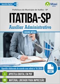 Auxiliar Administrativo - Prefeitura de Itatiba - SP