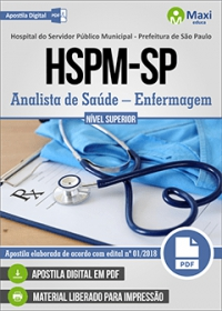 Analista de Saúde - Enfermagem - HSPM-SP