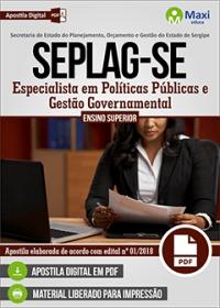 Especialista em Políticas Públicas e Gestão Governamental - SEPLAG-SE