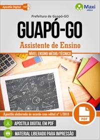 Assistente de Ensino - Prefeitura de Guapó - GO