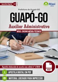 Auxiliar Administrativo - Prefeitura de Guapó - GO