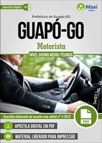 Motorista - Prefeitura de Guapó - GO