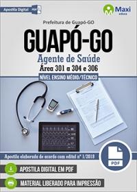 Agente de Saúde - Área 301 a 304 e 306 - Prefeitura de Guapó - GO