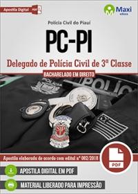 Delegado de 3ª Classe - Polícia Civil - PI
