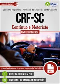 Contínuo e Motorista - CRF-SC