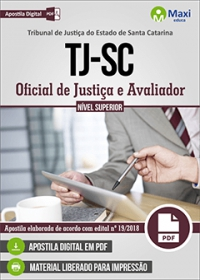 Oficial de Justiça e Avaliador - Tribunal de Justiça - SC