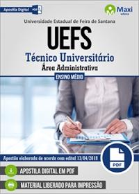 Técnico Universitário - Área Administrativa - UEFS