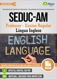 Professor - Língua Inglesa - SEDUC-AM