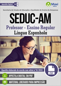 Professor - Língua Espanhola - SEDUC-AM