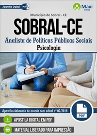 Analista de Políticas Públicas Sociais - Psicologia - Sobral - CE