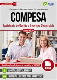 Assistente de Gestão e Serviços Comerciais - COMPESA