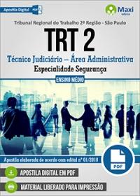 Técnico Judiciário - Especialidade Segurança - TRT 2ª Região - SP