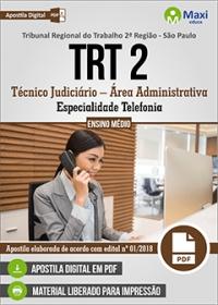 Técnico Judiciário - Especialidade Telefonia - TRT 2ª Região - SP
