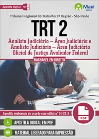 Analista Judiciário - Área Judiciária - TRT 2ª Região - SP