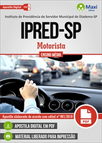 Motorista - IPRED-SP - Diadema-SP