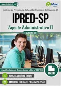 Agente Administrativo II - IPRED-SP - Diadema-SP