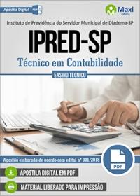 Técnico em Contabilidade - IPRED-SP - Diadema-SP